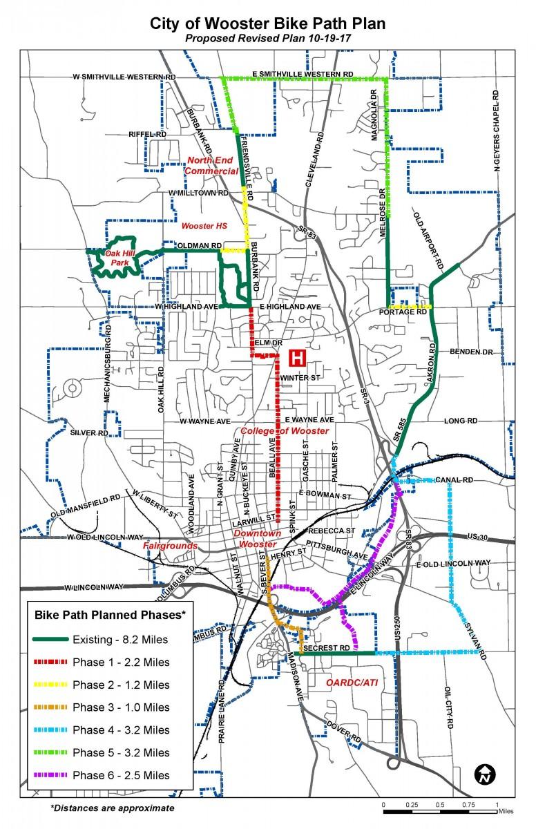 Bike Trails In Ohio Map.Bike Path City Of Wooster Ohio