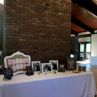 Picture table at Chalet Wedding